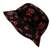City-Hunter-Bd1280-Emoji-100-All-Over-Bucket-Hat-Black-0-0