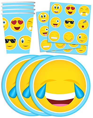 Emoji Birthday Party Supplies Set Plates Napkins Cups