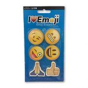Emoji-Erasers-Smile-Alien-Poo-Ghost-More-3-Pack-18-Total-Erasers-0-0