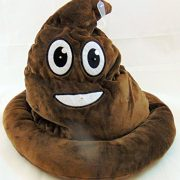 Emoji-Light-Up-Poop-Hat-Plush-Emoticon-Head-Wear-12-Inches-High-0-0