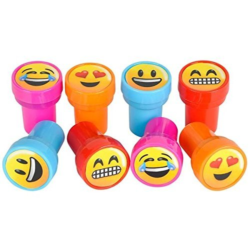 Emoji Smiley Stamps Birthday Party Supplies Loot Bag