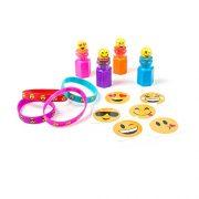 KidzWhizz-84-Piece-Mega-Emoji-Party-Supplies-Emoticon-Smile-Toy-Novelty-Party-Favor-Assortment-24-Emoji-Smile-Bubble-Bottles-24-Silicone-Emoji-Smile-Bracelets-36-Emoji-Smile-Temporary-Tattoos-0-0