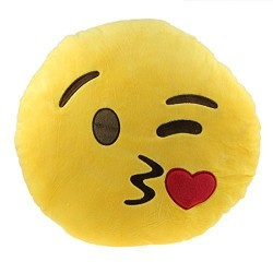 1 X Changeshopping Cute Car Home Office Accessory Emoji Smiley Naughty Cushion Pillow Toy Gift (E)