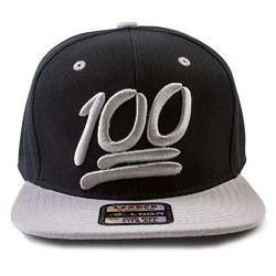 100 Emoji Black/Grey Adjustable Snapback