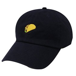 City Hunter C104 Taco Emoji Cotton Baseball Cap Dad Hats 15 Colors (Navy)