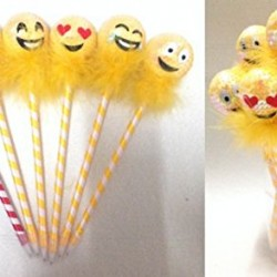 Cute Cartoon Ball Point Pen Ballpoint emoji Creative Party Favors-12 Pcs