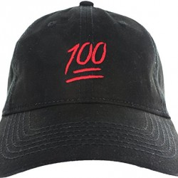 Dad Hat Cap – Emoji 100 Hundred Embroidered Adjustable Black Baseball Cap