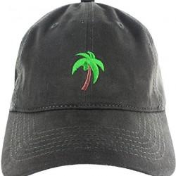 896d46a6 Dad Hat Cap – Palm Tree Emoji Embroidered Adjustable Dark Green Baseball Cap