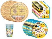 Emoji Birthday Party Supplies Bundle Pack for 8