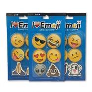 Emoji Erasers: Smile, Alien, Poo, Ghost, More: 3-Pack: 18 Total Erasers