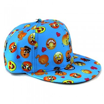 Emoji-Face-Funny-Snapback-Hat-Baseball-Cap-Blue-0