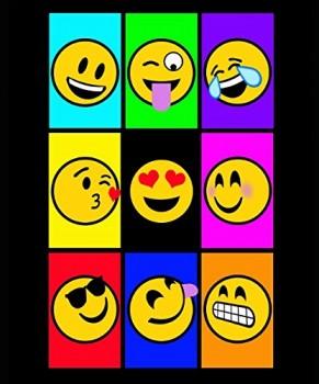 Emoji-Luxury-Plush-Blanket-Heavy-Weight-60X80Twin-Size-0