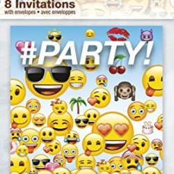 Emoji Party Invitations, 8ct