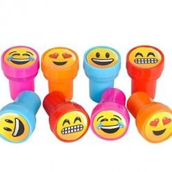 Emoji Smiley Stamps Birthday Party Supplies Loot Bag Accessories 24 Pieces per Unit
