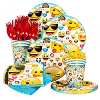 Emoji-Standard-Birthday-Party-Tableware-Kit-Serves-8-0