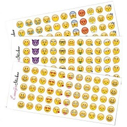 Emoji Stickers 12 Sheets with Same Popular Happy Emojis Faces Icons Kids Stickers from iPhone