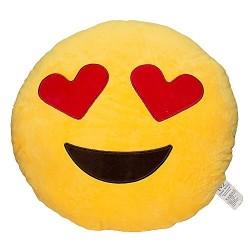EvZ 32cm Emoji Smiley Emoticon Yellow Round Cushion Pillow Stuffed Plush Soft Toy