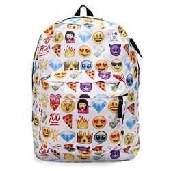 b17fabc1f845 OURBAG Cute Backpack Emoji School Book Backpack Shoulder Bag Schoolbag for  Girls Boys