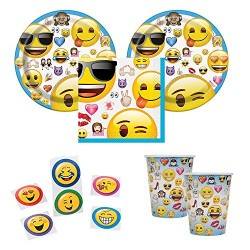 Official Emoji Party Supplies For 16 Guests Cake Plates Napkins Cups Plus Bonus