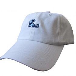 Waves White Emoji Meme Unstructured Twill Cotton Low Profile Yeezus Dad Hat Cap