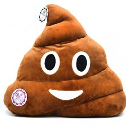 YINGGG Poop Emoji Plush Pillow Round Cushion Toy, 32 x 32 x 10 cm