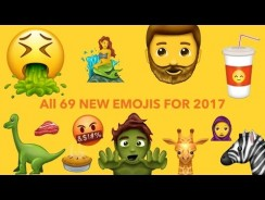 😮 All 69 New Emojis for 2017